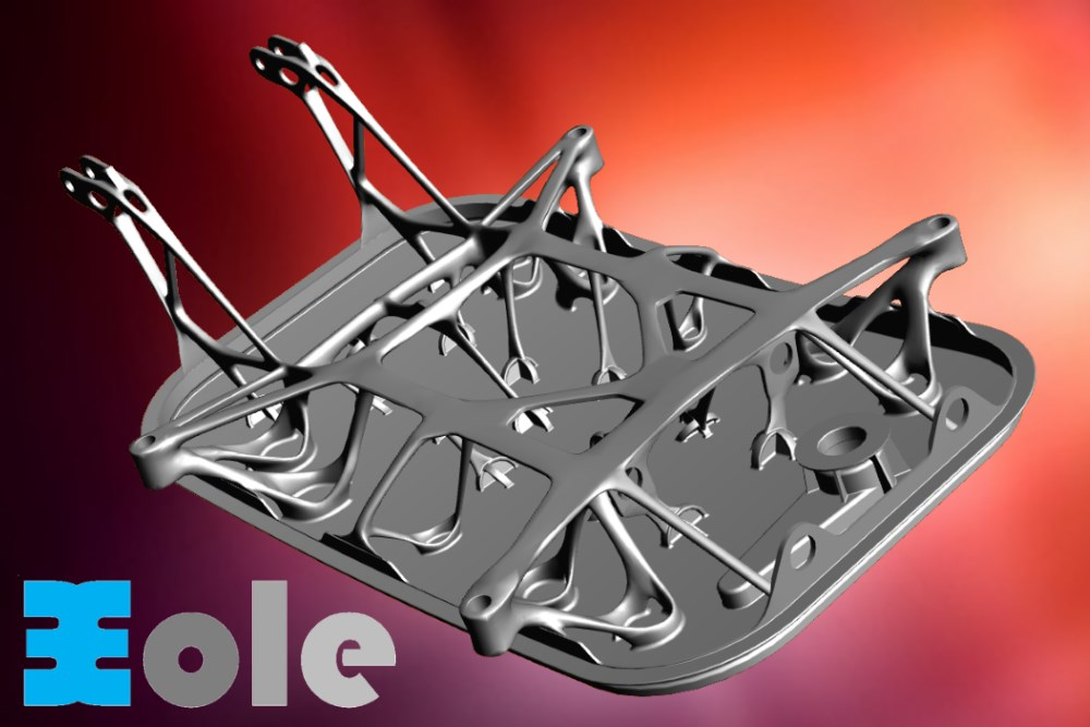 Trappe aéronautique aluminium en cire perdue