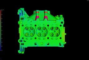 Contrôle dimensionnel sur une culasse en aluminium par CT Scan