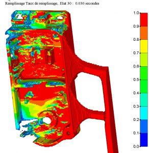 Simulation du remplissage d'un boitier en aluminium AlSi9Cu3