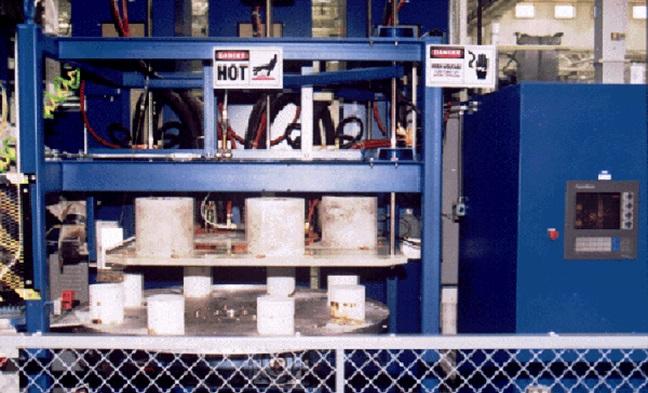 Carrousel de réchauffage par induction