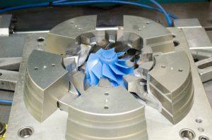 Réalisation d'un modèle en cire par injection dans un moule métallique