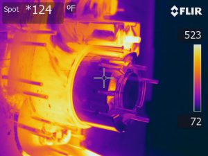 Thermographie infra-rouge de zone de moule