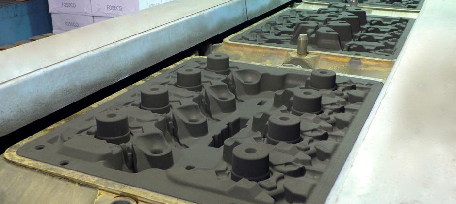 Moule en sable silico-argileux