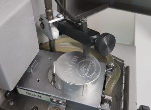 Zone de mesure du spectromètre