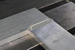 Zones de pièces en aluminium soudées par FSW