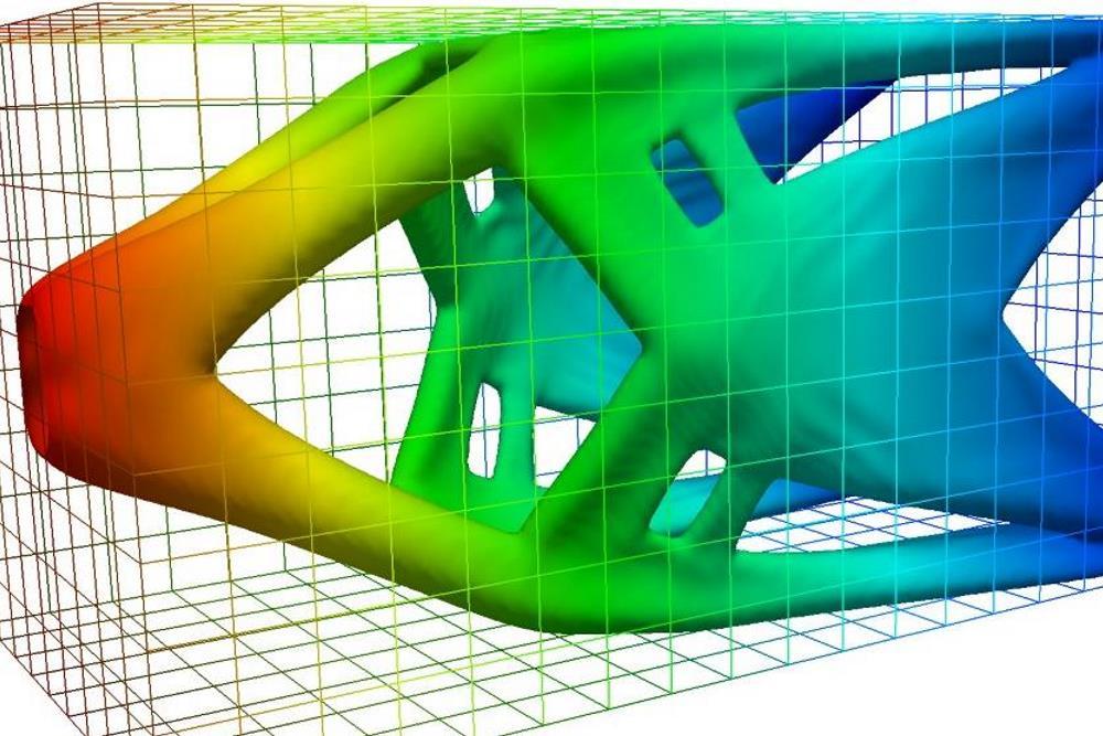 Optimisation topologique d'une pièce de fonderie