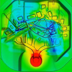 Cartographie infrarouge de moule - avant poteyage.