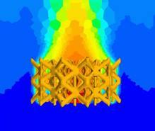Modélisation CFD directe du dissipateur thermique.
