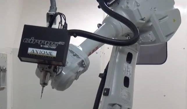 Système de vision porté par le bras robot.