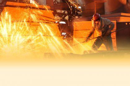 Oxydation des bains d'acier liquide en fonderie.