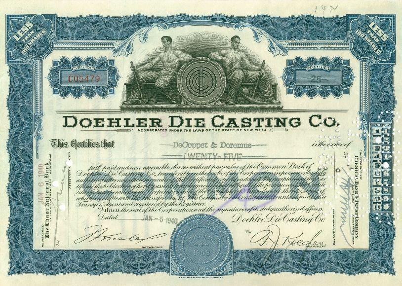 Doehler die casting comapgny - 1908 - New York.