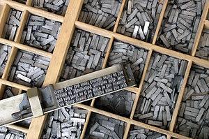 Plomb typographique en fonderie sous pression.